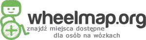 Logo wheelmap - znajdź miejsca dostępne dla osób na wózkach